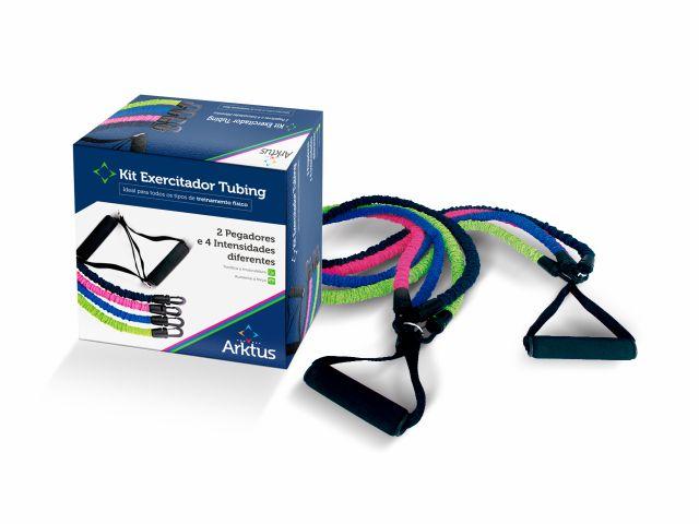 Kit Exercitador Tubing com 4 Intensidades e Pegador - Arktus