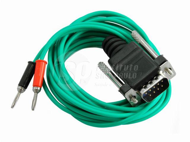 Cabo 07 com Pontas Pino Banana, Utilizado nos Equipamentos Neurodyn High Volt e Neurovector - Cor Verde - ISP Eletromédica/ARKTUS