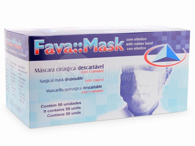 Foto 1 - Máscara Cirúrgica Descartável com Elástico Fava - 50 Unidades