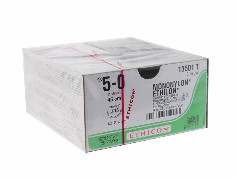 Foto 1 - Fio De Sutura Mononylon 5.0 Ethicon - Johnson & Johnson