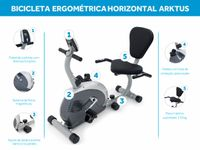 Foto 6 - Bicicleta Ergométrica Horizontal - Arktus