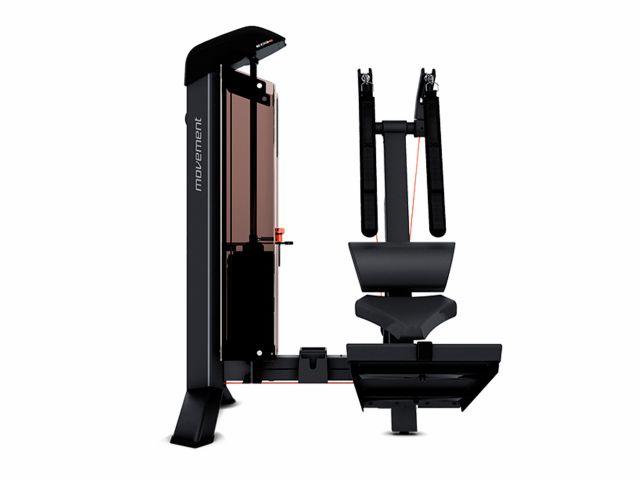 Estação de Musculação New Edge+ Abdominal Com Contador e Carenagem - Movement