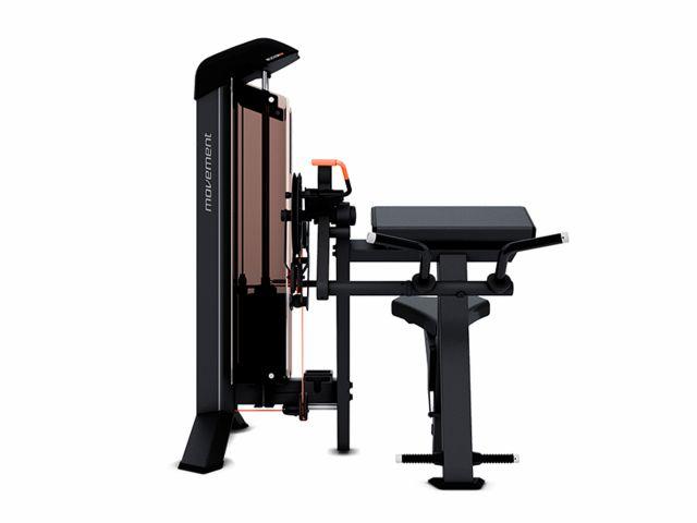 Estação de Musculação New Edge+ Bíceps/Tríceps Com Contador e Carenagem - Movement