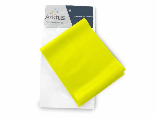 Exercitador Elástico Top Band, Extra Leve Amarelo - Arktus