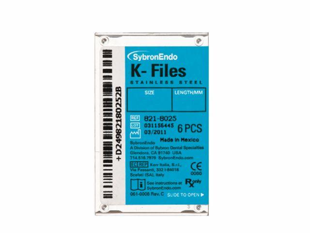 Lima Manual K-Files 30MM 2ª Série - SybronEndo