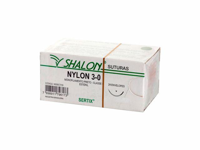 Fio de Sutura Nylon 3.0 - Shalon