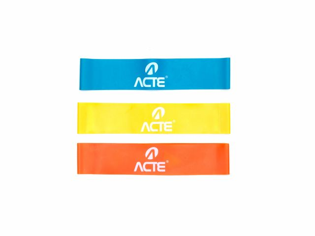 Kit Mini Band - 3 Níveis De Resistências - Acte