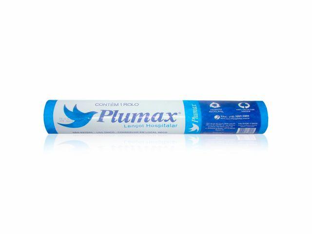 Lençol de Papel Descartável - 100% Celulose Virgem - 70cmx50m - Plumax