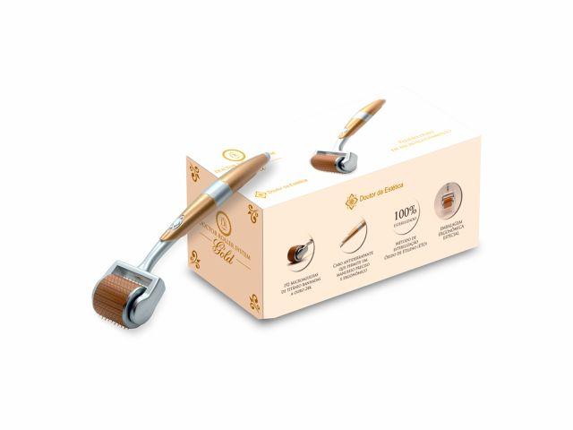 Rolo Para Microagulhamento - 192 Agulhas - Doctor Roller System Gold - Doutor da Estética