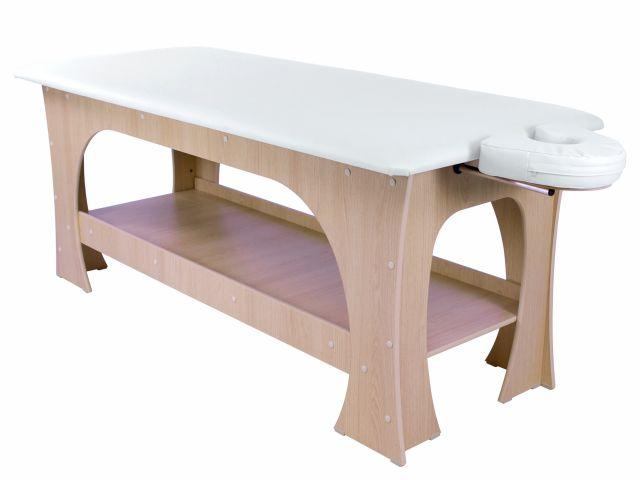 Maca de Massagem Bella -  Fixa - 80 cm de largura - Marrom Claro - Arktus