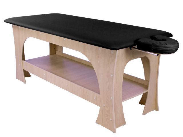 Maca de Massagem Bella -  Fixa - 80 cm de largura - Base Marrom Claro - Arktus
