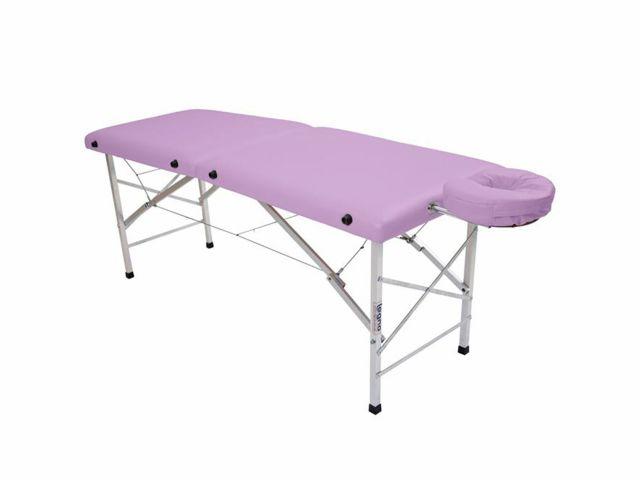 Maca De Massagem Portátil Com Altura Fixa De Alumínio E Orifício Andrômeda - Legno