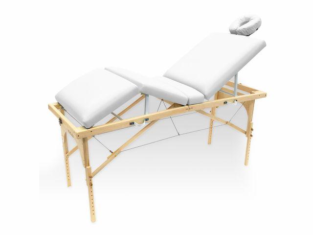 Maca De Massagem Portátil Com Altura Regulável E Orifício Para Fisioterapia E Estética Canopus - Legno