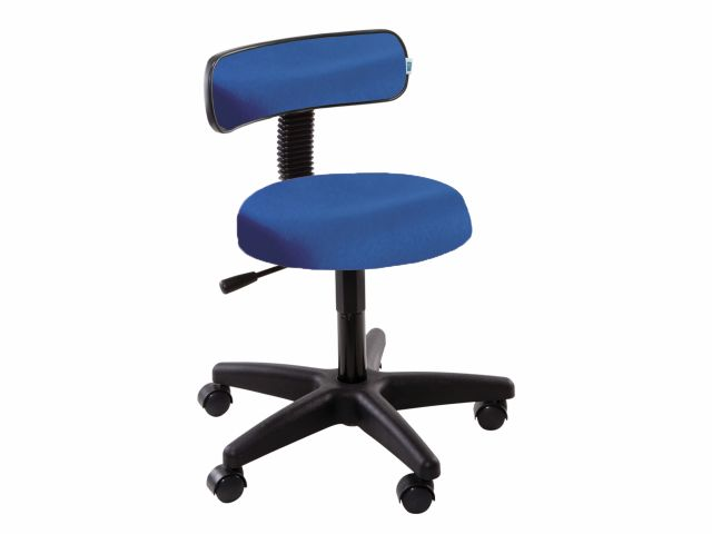 Cadeira Mocho com Encosto - 5010 - Base Preta - Arktus
