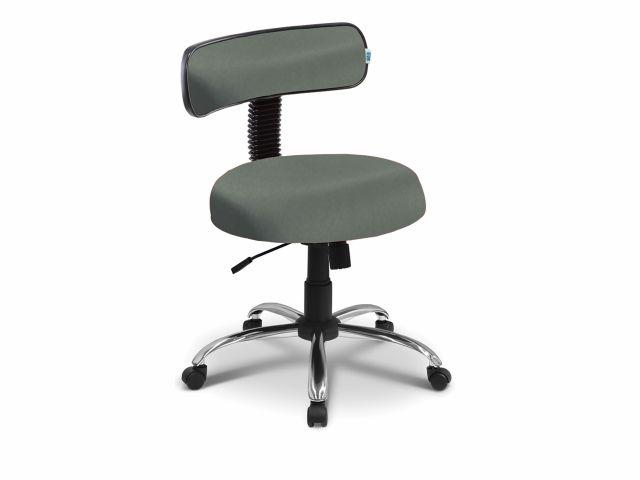 Cadeira Mocho - Com Encosto -  Base Cromada - Arktus