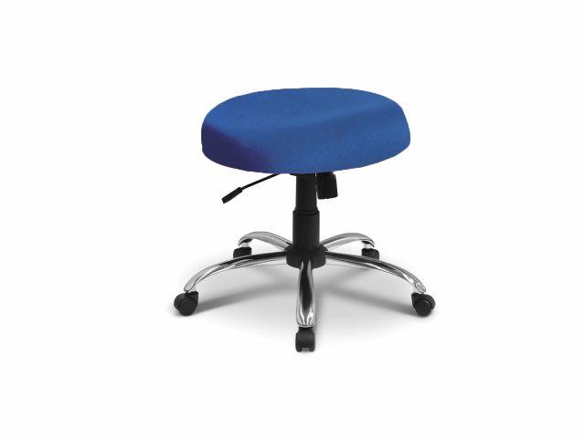 Cadeira Mocho - Sem Encosto - Base Cromada - Arktus