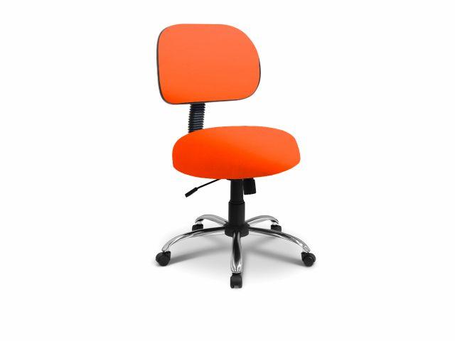 Cadeira Secretária - Com Encosto - Base Cromada - Arktus